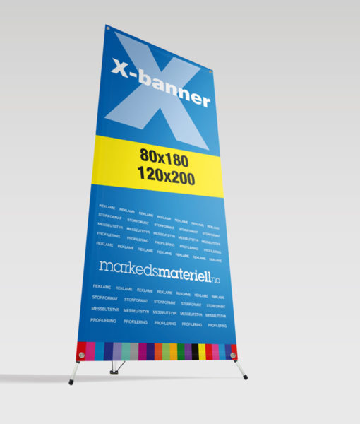 X Banner Markedsmateriell.no