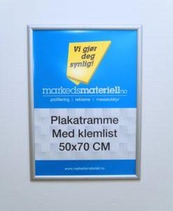 Plakatramme med klemlist fra Markedsmateriell