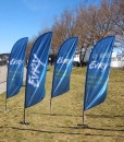 Beachflagg kampanje komplett tilbud kun 990 per stk fra Markedsmateriell.no