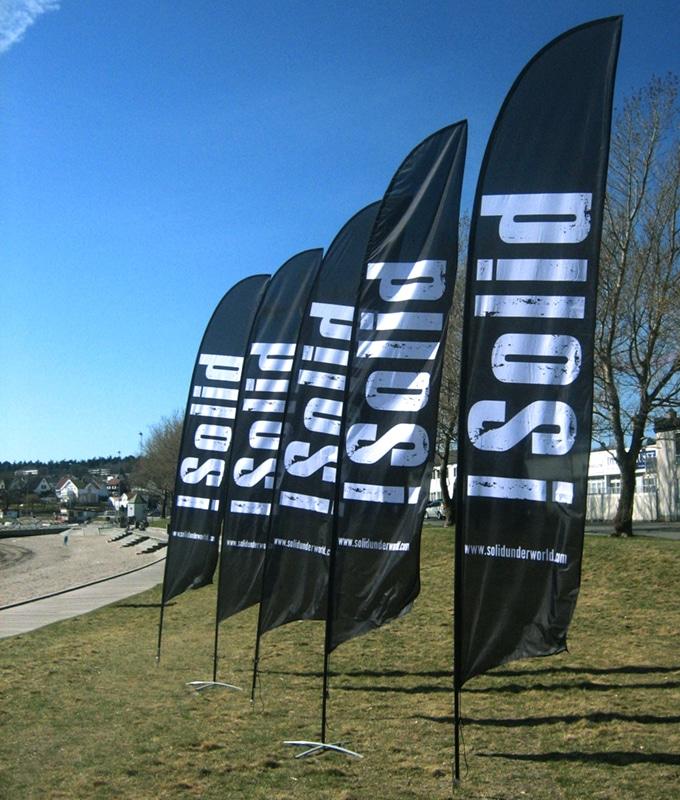 Beachflagg klassisk fra Markedsmateriell.no