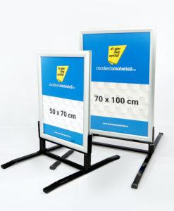 Gatebukk hardfør med klemlist aluminium 50x70 cm og 70x100 cm fra Markedsmateriell.no