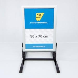 Gatebukk hardfør med klemlist aluminium 50x78 fra Markedsmateriell.no