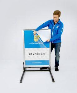 Gatebukk hardfør med klemlist aluminium 70x100 cm fra Markedsmateriell.no