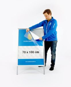 Gatebukk klassisk 70x100 klemlist aluminium fra Markedsmateriell.no