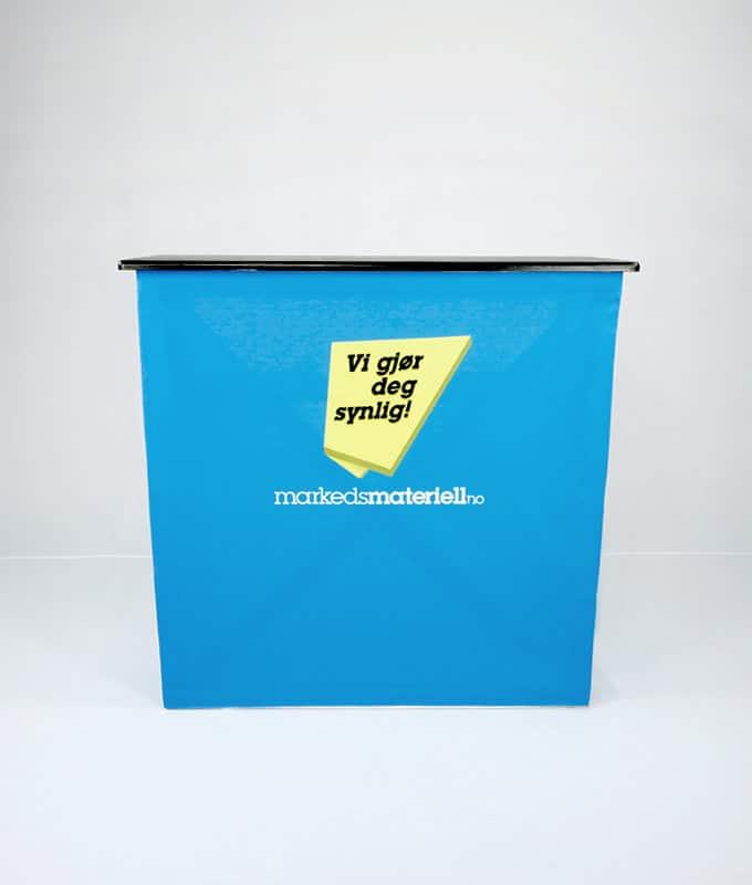 Messebord klassisk pop-up messedisk messeutstyr fra Markedsmateriell