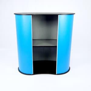 Messebord Oval pop-up messedisk messeutstyr fra Markedsmateriell