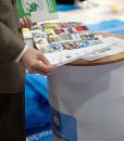 Messebord rund søyle messeutstyr fra Markedsmateriell