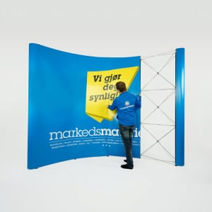Messevegg buet paneler 4×3 messeutstyr fra Markedsmateriell