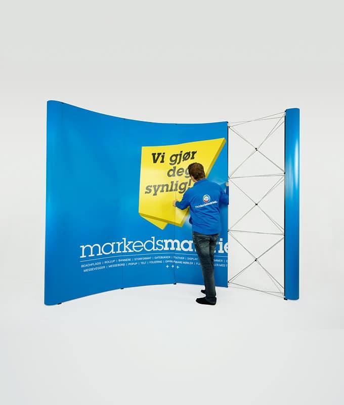 Messevegg buet paneler 4x3 messeutstyr fra Markedsmateriell