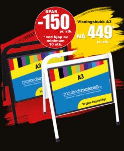 BLACK DAYS! Visningsbukk fra Markedsmateriell.no!