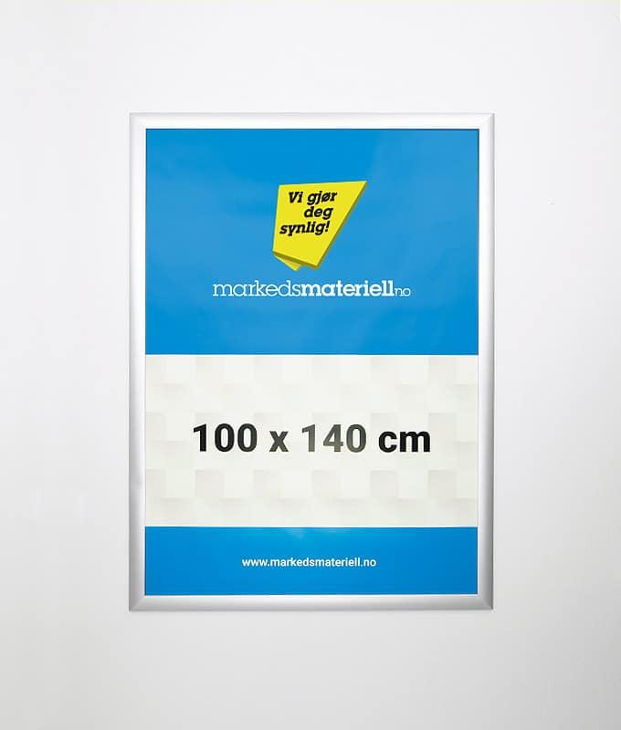 Plakatramme med klemlist 100x140 plakat oppheng markedsmateriell