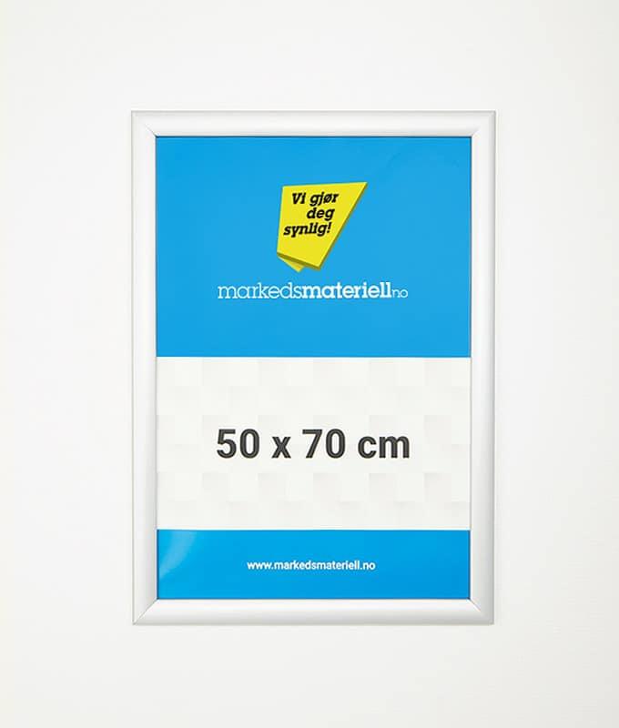 Plakatramme med klemlist 50x70 plakat oppheng markedsmateriell