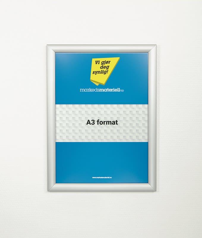 Plakatramme med klemlist A3 plakat oppheng markedsmateriell