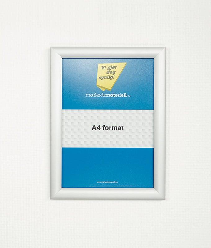 Plakatramme med klemlist A4 plakat oppheng markedsmateriell