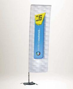 Beachflagg firkantet reklameflag strandflagg fra Markedsmateriell.no