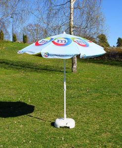 Reklameparsoll med trykk parasoll fra Markedsmaterill
