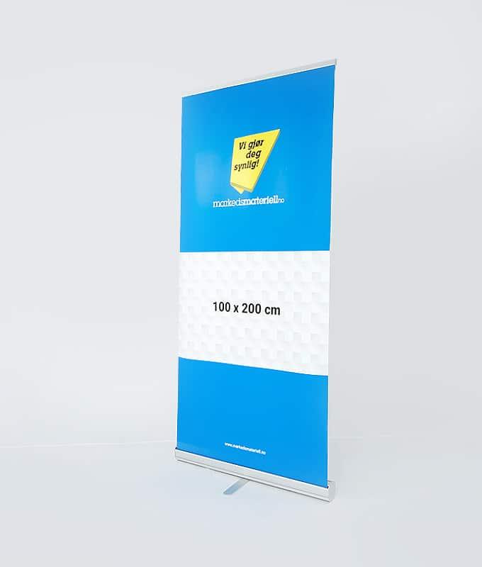 Roll-Up Klassisk 100x200 messeutstyr banner fra Markedsmateriell