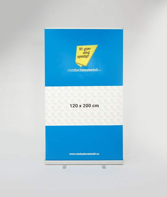 Rollup Klassisk 120x200 cm messeutstyr banner fra Markedsmateriell