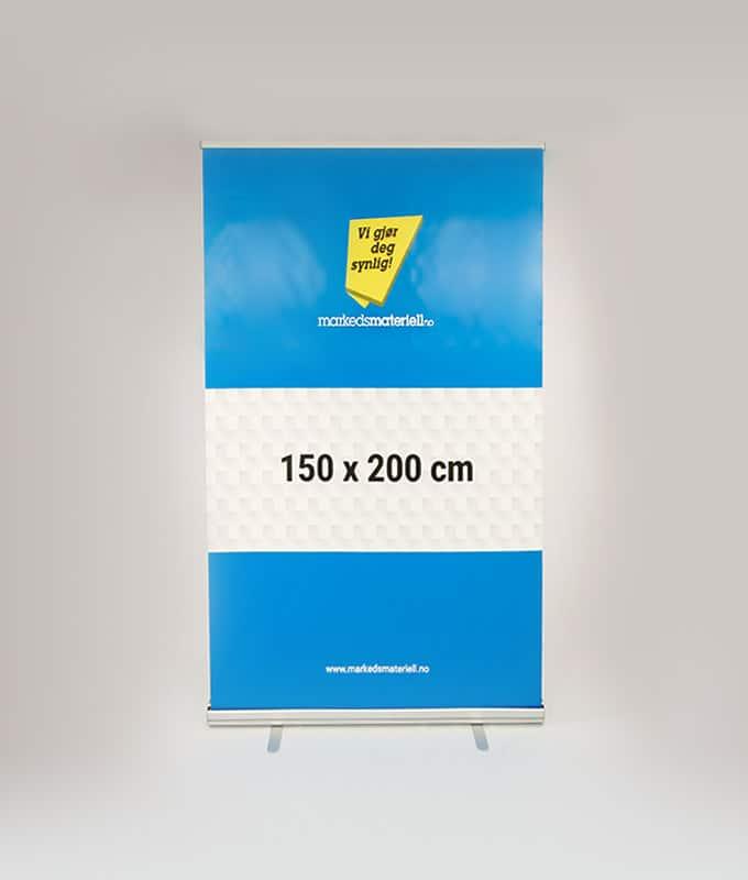 Rollup Klassisk 150x200 cm messeutstyr banner fra Markedsmateriell