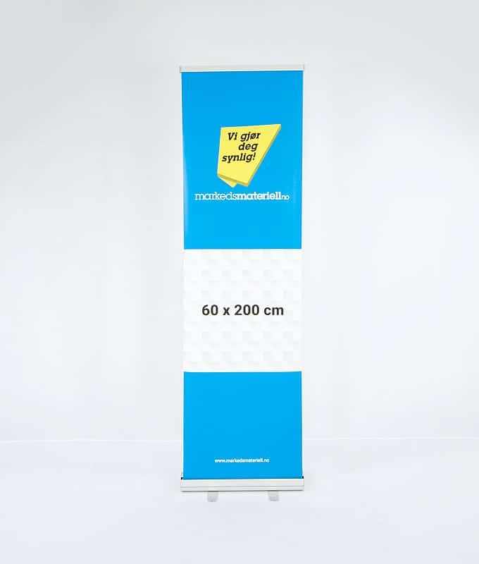 Rollup Klassisk 60x200 cm fra Markedsmateriell.no