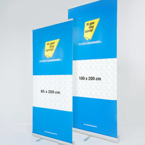 Roll-Up Klassisk 85x200 100x200 messeutstyr rollup markedsmateriell