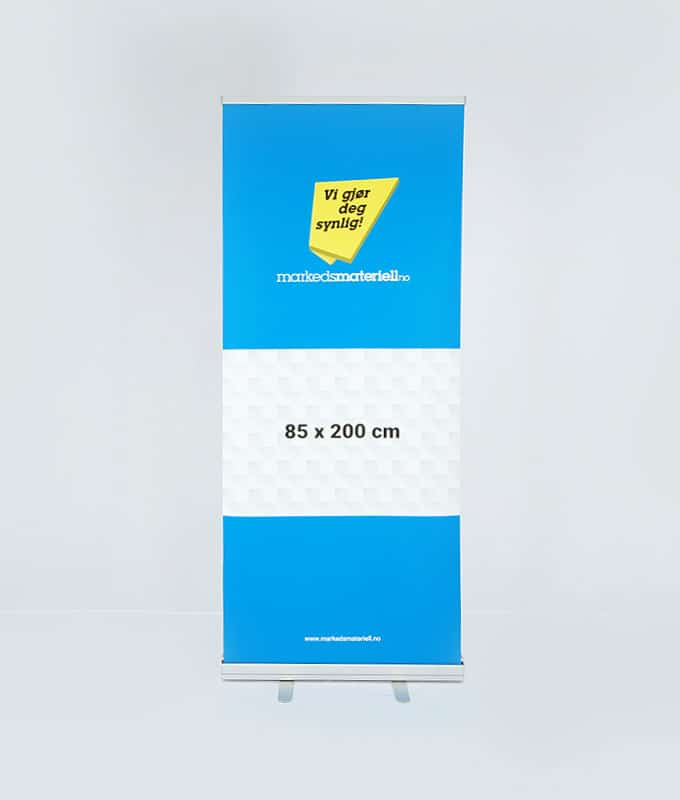 Rollup klassisk 85x200 messeutstyr banner fra Markedsmateriell