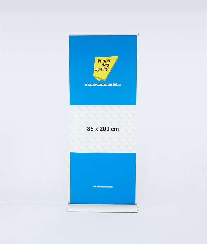 Rollup Eksklusiv 85x200 banner messeutstyr fra Markedsmateriell