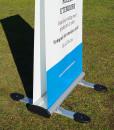 Rollup utendørs 2-sidig vannfast fra Markedsmateriell