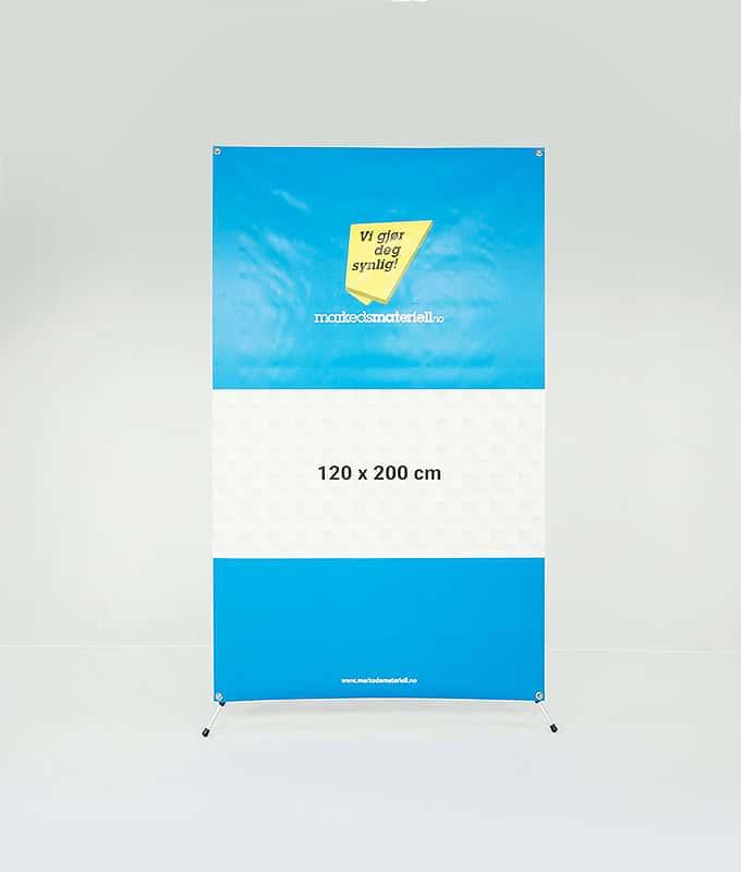 X-Banner 120x200 banner oppheng og messeutstyr fra Markedsmateriell