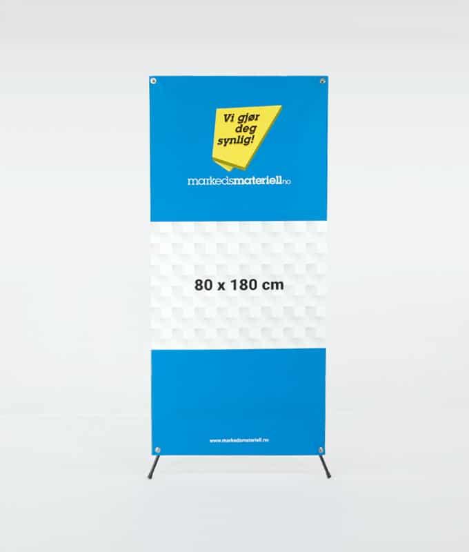 X-Banner 80x180 banner oppheng og messeutstyr fra Markedsmateriell