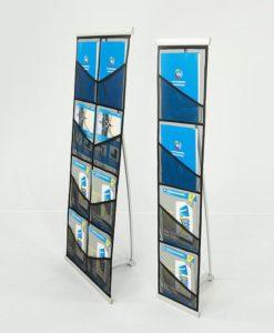 Brosjyrestativ nett enkel dobbel portabelt stativ messeutstyr fra Markedsmateriell