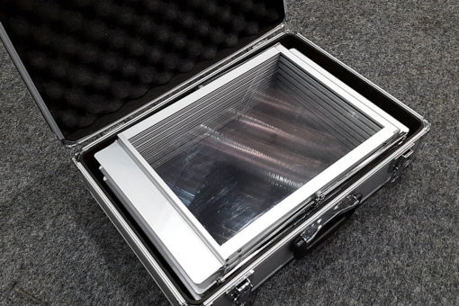 brosjyrestativ smart i koffert popup stativ messeutstyr markedsmateriell