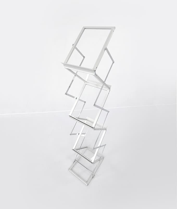 Brosjyrestativ smart pop-up display easy-up borsjyre stativ aluminium koffert messeutstyr fra Markedsmateriell.no