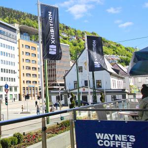 flagg windmaster logoflagg reklameflagg fra Markedsmateriell