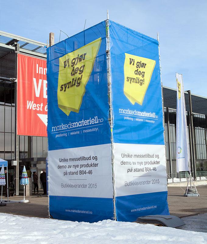 Mesh-banner med trykk storformat banner fra Markedsmateriell