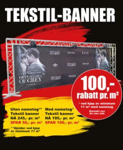 BLACK DAYS! Tekstil-banner fra Markedsmateriell.no!