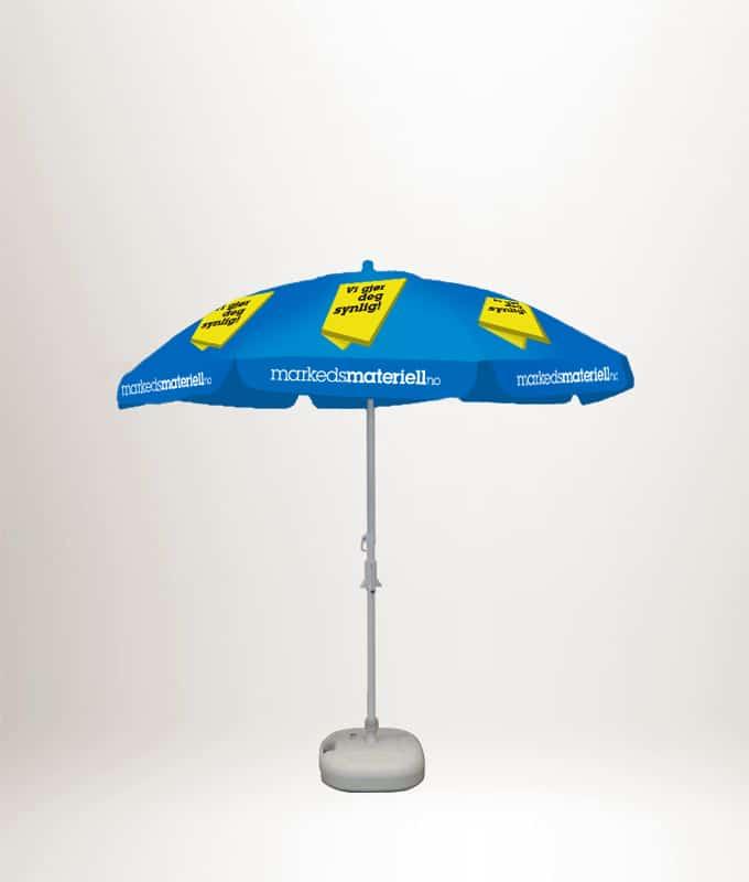 Parasoll med trykk, reklameparsoll fra Markedsmateriell.no