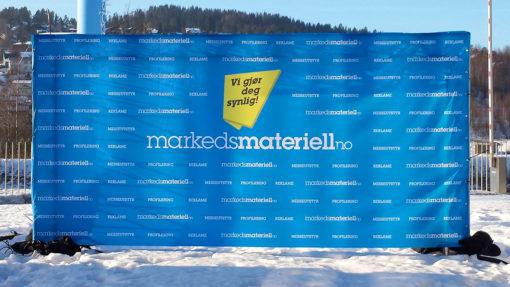 Banner pressevegg fotovegg Mesevegg fra Markedsmateriell.no