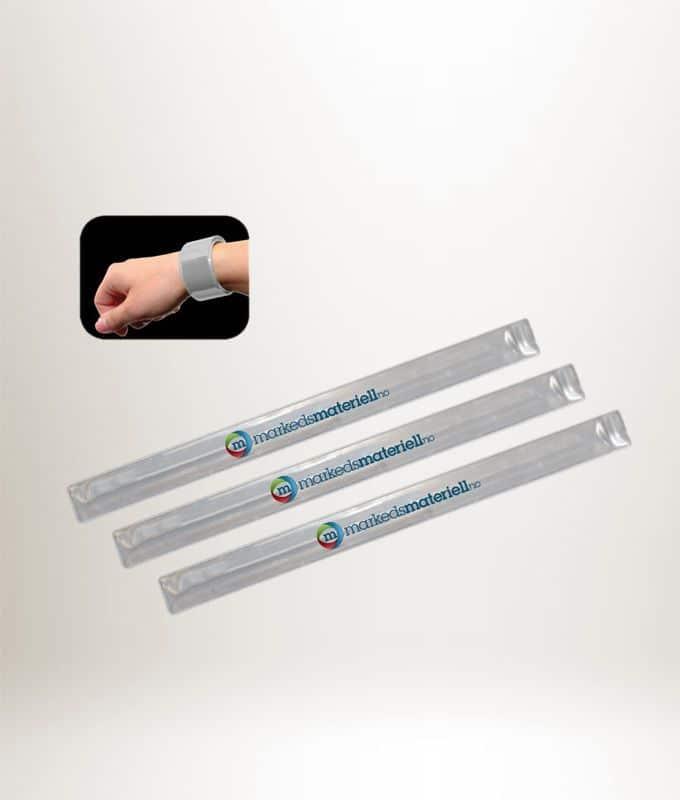 Slapwrap Refleks med trykk, refleksbånd  med logo fra Markedsmateriell.no