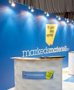 PVC-banner med trykk messeutstyr fra Markedsmateriell
