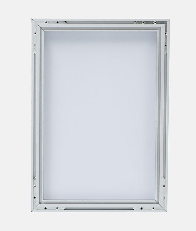 Rammesystem til bildeduk bilderamme aluminium fra Markedsmateriell.no