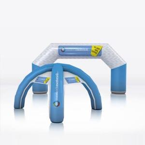 Oppblåsbare produkter reklameprodukter oppblåsbar målbue oppblåsbart telt med trykk og logo fra Markedsmateriell.no