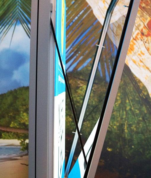 Gatebukk LED med lys (windsign) utebukk oppladbart batteri fra Markedsmateriell