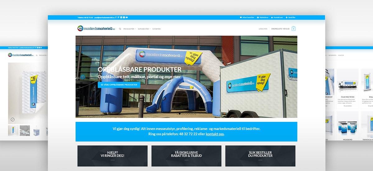 Markedsmateriell.no messeutstyr profileringsmateriell profilutstyr reklamemateriell