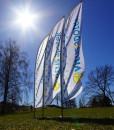 Beachflagg Reklameflagg med trykk fra Markedsmateriell