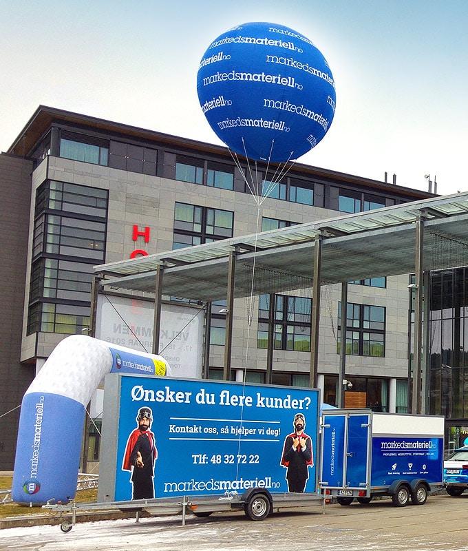 Helium ballong luftballong reklameballong fra Markedsmateriell