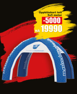 BLACK DAYS! Oppblåsbart Telt fra Markedsmateriell.no!