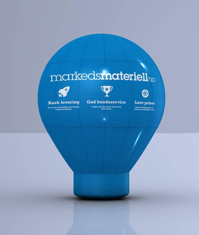 Oppblåsbar reklame ballong med trykk til events, promotion og profilering