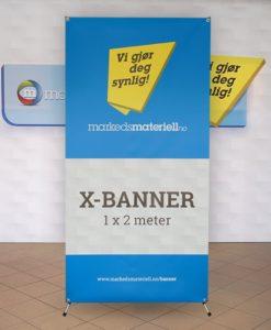 Kampanje! Stor X-banner alternativ til rollup fra Markedsmateriell