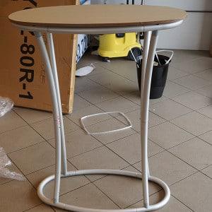Popup messebord i alumium med oval form fra Markedsmateriell